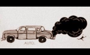 Auto exhaust fumes